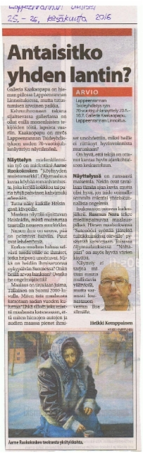 Lappeenrannan Uutiset 26.6.2016