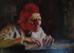 Study of Edelfelt`s painting, 2019