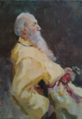 Study of Repin`s painting, 2019