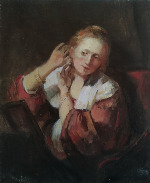 SOLD Study of Rembrandt`s painting, 2019