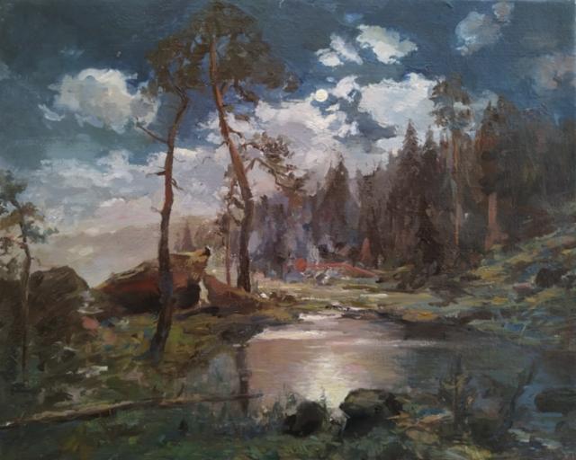 SOLD Study of Munsterhjelm`s painting, 2020