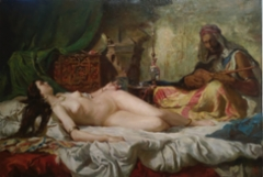 Copy of Mariano Fortuny`s painting Odalisque, 2020