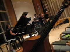 """""""Katson maalaismaisemaa..."""" Bändi treenaa valtuustosalissa 11.11.2009"""