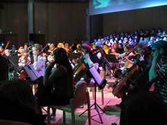 Elokuvamusiikin konsertin kenraaliharjoitukset Suolahtisalissa 15.11.2009