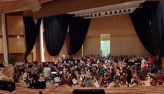 Across The Stars -elokuvamusiikin konsertin harjoitukset Suolahtisalissa 5.11.2010