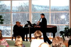 Jan Kalivodan Morceau de Salon op. 129 tulkitsijoina Balázs Albert (klarinetti) ja Matti Torikka (piano) 6.2.2011
