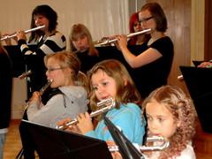 Tutti Flutti - huiluorkesterin harjoitukset 27.1.2012