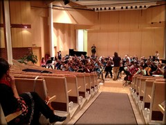 Musiikkiopiston sinfonisen suurorkesterin treenit Suolahtisalissa 8.11.2013