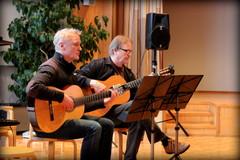 Herrat H.Hakkarainen ja A. Naskali Celso Machadon Pacocan lumoissa Annikka Wahrmann -opekonsertissa Äänekosken kaupungintalon valtuustosalissa 2.2.2014