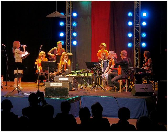 """Musiikkiopiston HedgeHog housebändinä """"On elämä laulu"""" -konsertissa 16.2.2014"""