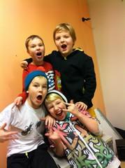 Yläfemma -bändin jäbät treenitauolla 18.11.2013
