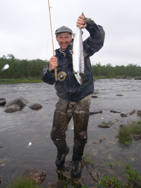 salmon fly fishing in utsjoki