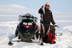 Snowmobile / Ice fishing safari