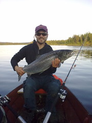 Salmon fishing, Muonio River