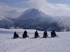 arctic ocean snowmobile safari