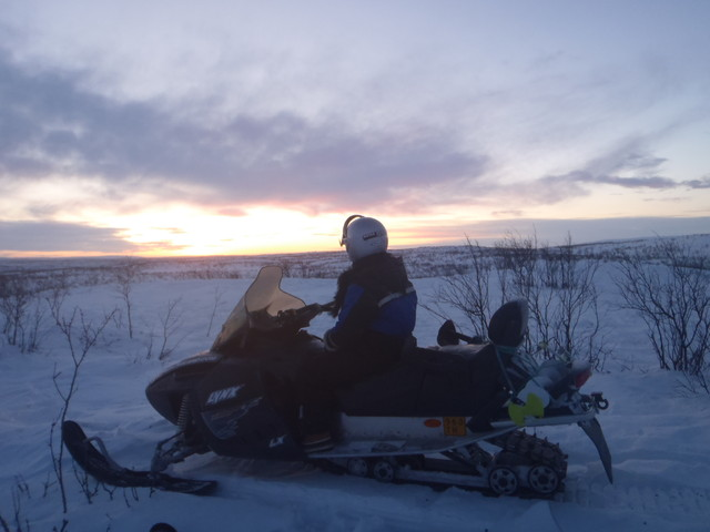 New Year Snowmobiling