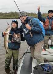 Pike fishing Lapland
