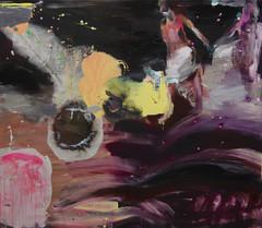 Säihkenäyttämö (2012), 120 cm x 140 cm, akryyli ja öljy kankaalle.