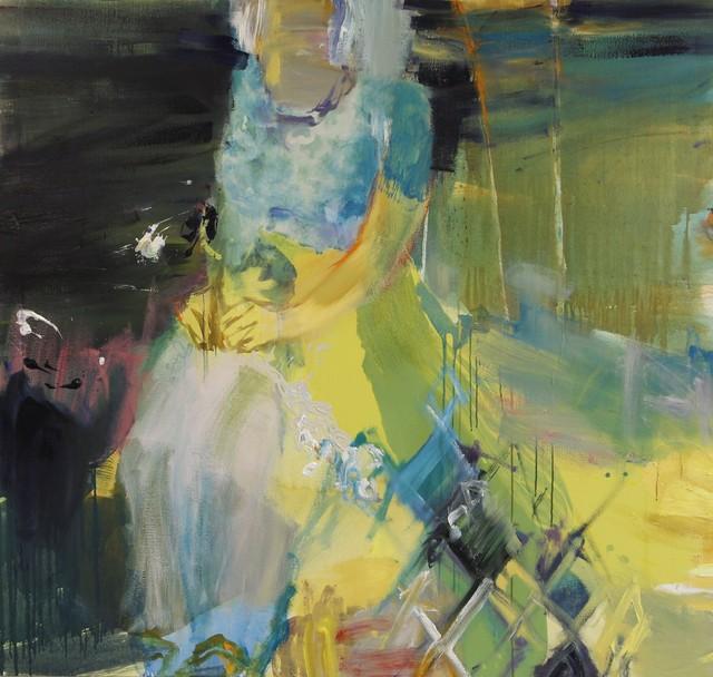 Kudelma (2012), 160 cm x 150 cm, akryyli ja öljy kankaalle.