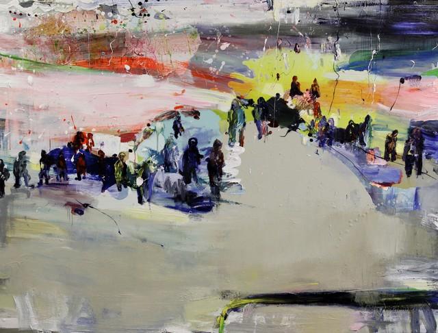 Parvi (2012), 150 cm x 200 cm, akryyli ja öljy kankaalle. Myyty.