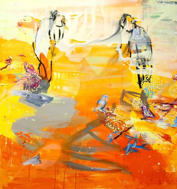 Tierra I (2012), 150 cm x 140 cm, akryyli ja öljy kankaalle. Myyty.