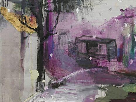 Räntäsade (2009), 61 cm x 80 cm, akryyli ja öljy kankaalle, myyty.
