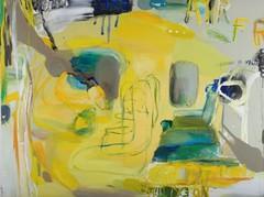 No exit here (2006), 150 cm x 200 cm, akryyli, kynät ja öljy kankaalle.