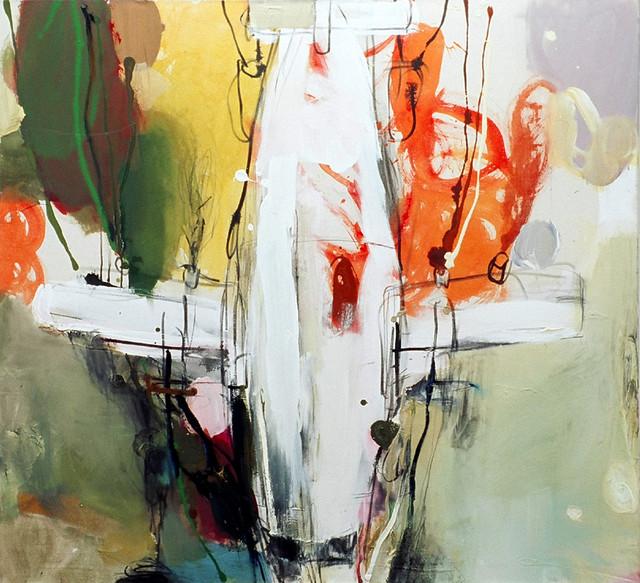 Syöksy (2006), 110 cm x 120 cm , akryyli ja öljy kankaalle, myyty.