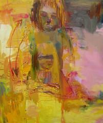 Äiti varjonsa sylissä (2003), 150 cm x 130 cm, akryyli ja öljy kankaalle.
