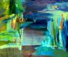 Tästäkö portista? (2004), 130 cm x 150 cm, akryyli ja öljy kankaalle, myyty.