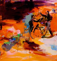 Tierra II (2012), 150 cm x 140 cm, akryyli ja öljy kankaalle. Myyty.