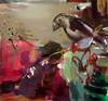 Gaia (2012), 140 cm x 150 cm, akryyli ja öljy kankaalle. Myyty.