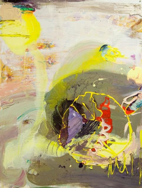 Keltainen meduusa (2012), 105 cm x 80 cm, akryyli ja öljy kankaalle. Myyty.