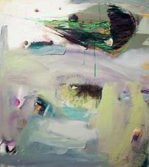 Vihreä meduusa (2012), 90 cm x 80 cm, akryyli ja öljy kankaalle. Myyty.