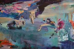 Merestä maalle (2012), 80 cm x 120 cm, akryyli ja öljy kankaalle. Myyty.