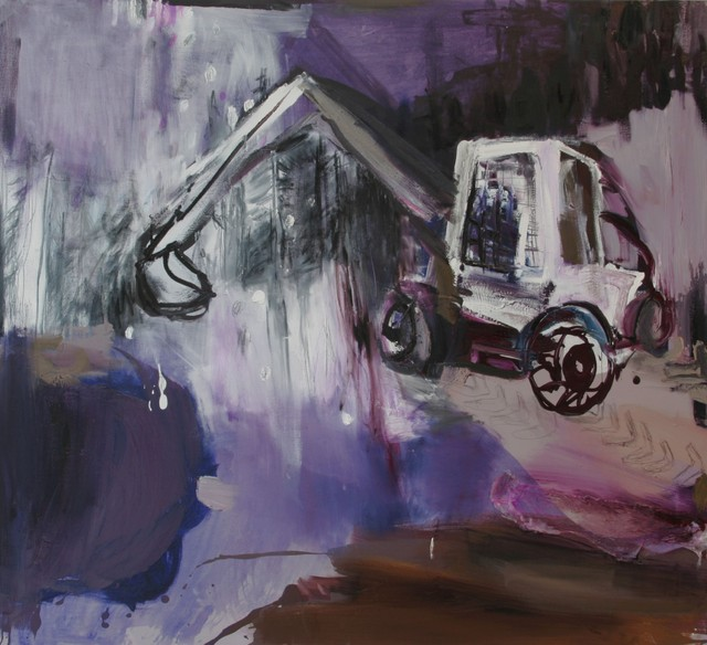 Kuoppa (2009), 140 cm x 150 cm, akryyli ja öljy kankaalle, myyty.