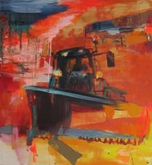Aura (2010), 120 cm x 100 cm, akryyli ja öljy kankaalle, myyty.