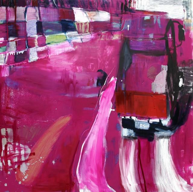 Sisu (2009), 150 cm x 150 cm, akryyli ja öljy kankaalle, myyty.