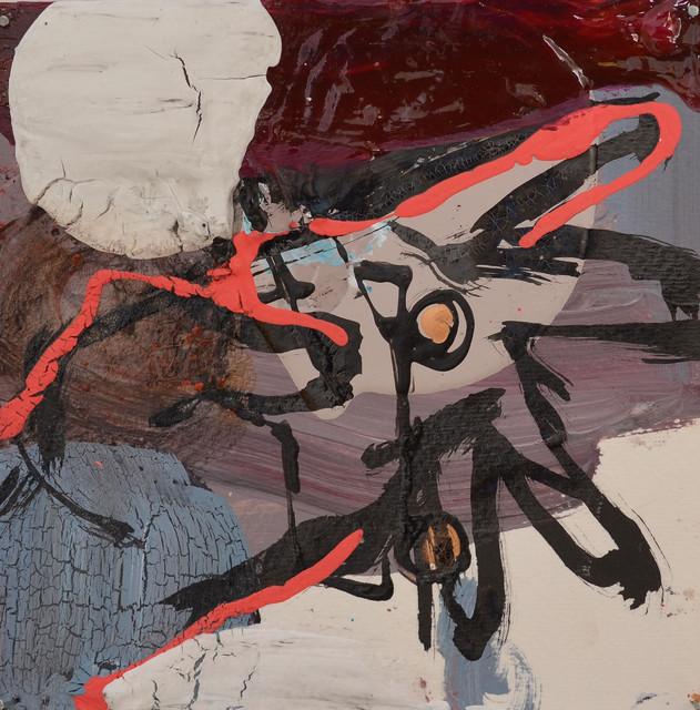 Sarjasta: Ranteen pyöritys sisäänpäin, vasen käsi (2012) 15 cm x 15 cm, sekatekniikka paperille.