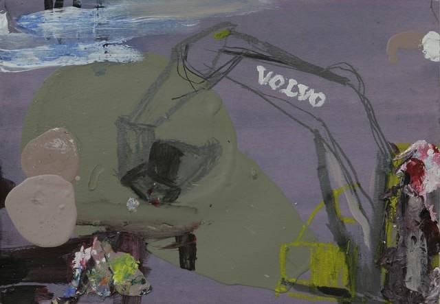 """Sarjasta: """"Toistaiseksi voimassa"""" (2009), 30 cm x 40 cm, sekatekniikka paperille, myyty."""