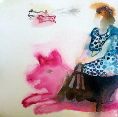 Possuravi (2010), 30 cm x 30 cm, akvarelli