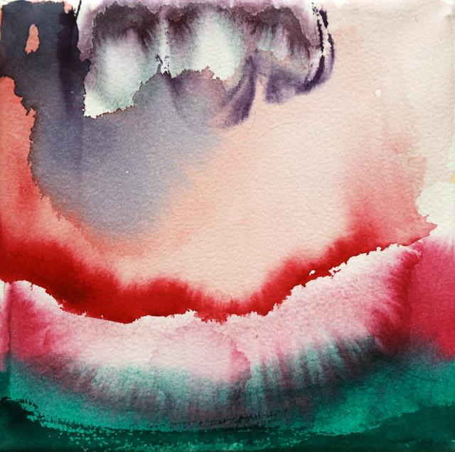 "Sarjasta: ""Fragmentteja"" (2014), 20 cm x 20 cm, akvarelli."