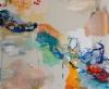 Tennarit ja korkkarit (2014), 100 x 120 cm, akryyli, siirtokuva ja öljy kankaalle. Myyty.