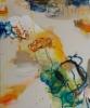 Bootsit (2014), 120 x 100 cm, akryyli, siirtokuva ja öljy kankaalle. Myyty.