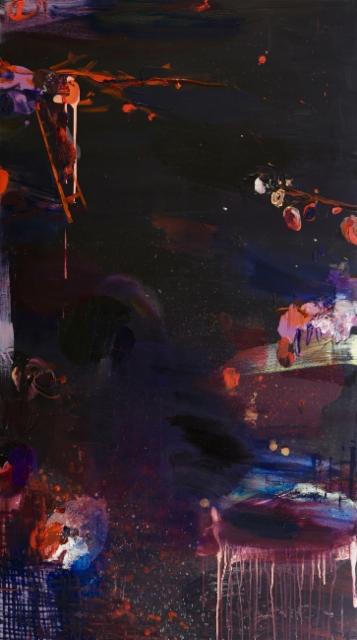 Mummon luumupuu (2014), 160 cm x 90 cm, akryyli ja öljy kankaalle.