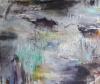 Maisema (2015), 150 x 160 cm, akryyli ja öljy kankaalle, myyty.