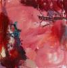 Punainen puutarha II (2014), 50 x 50 cm, öljy MDF-levylle. Myyty.