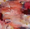 Punainen puutarha III (2014), 50 x 50 cm, öljy MDF-levylle. Myyty.