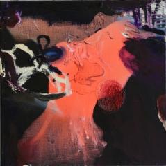 Ensikenkä I (2014), 35 x 35 cm, akryyli ja öljy kankaalle. Myyty.