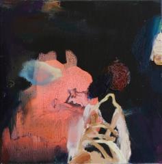 Ensikenkä II (2014), 35 x 35 cm, akryyli ja öljy kankaalle. Myyty.